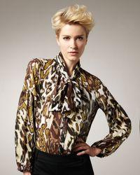 Kay Celine | Multicolor Animal-print Blouse | Lyst