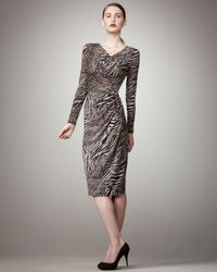 Lafayette 148 New York - Black Tiger-print Dress - Lyst