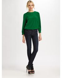 Marc By Marc Jacobs | Green Michaela Silk Blouse | Lyst