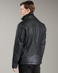 McQ | Black Resin-coated Double-breasted Jacket for Men | Lyst