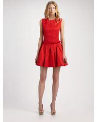 McQ | Red Puffball Dress | Lyst