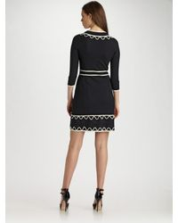 MILLY | Black Valentina Sweater Dress | Lyst