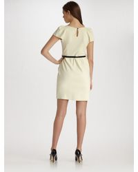 MILLY - White Addison Puff-sleeve Dress - Lyst