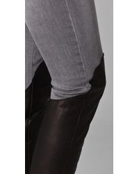 Opening Ceremony | Gray Combo Jeans with Leather Leg | Lyst