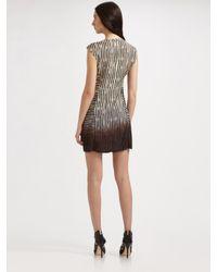 Nanette Lepore - Black Racing Stripe Dress - Lyst