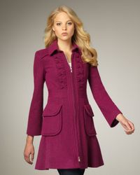 Nanette Lepore | Purple Provocative A-line Coat | Lyst
