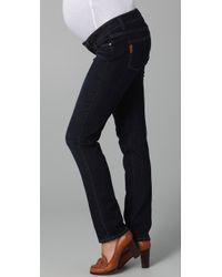 PAIGE - Blue Westbourne Jimmy Jimmy Maternity Jeans - Lyst