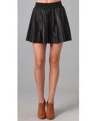 Parker | Black Leather Skirt | Lyst