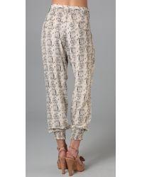 Parker | Gray Snakeskin Print Pants | Lyst