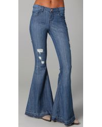 Pray For Mother Nature - Blue Ring My Bell Flare Jeans - Lyst