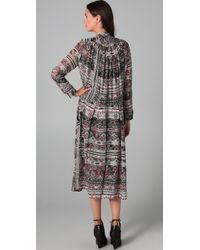 Preen By Thornton Bregazzi - Gray Aztec Tea Dress - Lyst