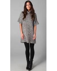 Rosel - Gray Boxy Sweater Dress - Lyst