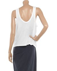 T By Alexander Wang | White Cotton and Modal-blend Tank | Lyst