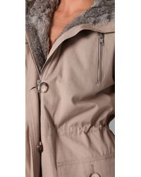 Torn By Ronny Kobo | Natural Sofia Fur Parka | Lyst