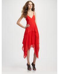 Vena Cava   Red Silk Chiffon Youth Dress   Lyst