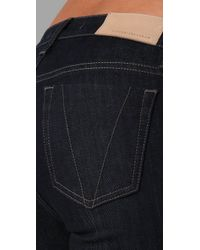 Victoria Beckham - Blue Clean Boot Cut Jeans - Lyst