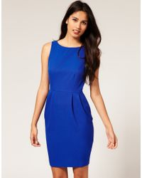 ASOS Collection - Blue Asos Pencil Dress with Tulip Skirt - Lyst