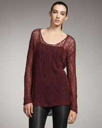 Helmut Lang | Red Wide-stitch Sweater | Lyst
