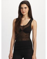 Jean Colonna | Black Cashmere Tank Top | Lyst