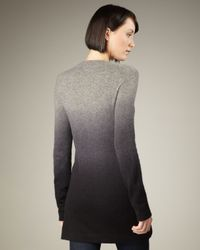 Neiman Marcus - Gray Ombre Cashmere Cardigan - Lyst