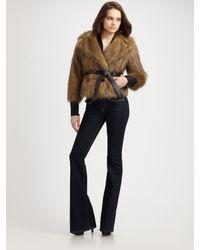 Rachel Zoe | Brown Penelope Faux Fur Jacket | Lyst