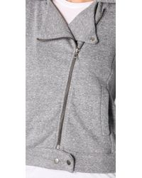 Splendid | Gray Mock Twist Moto Jacket | Lyst