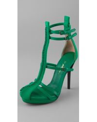 3.1 Phillip Lim | Green Regine T-strap Sandals | Lyst
