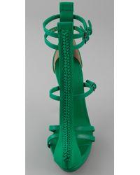 3.1 Phillip Lim | Green Regine T-strap Sandals | Lyst