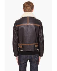 Alexander McQueen - Black Shearling Coat for Men - Lyst