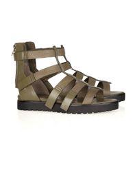 Alexander Wang | Metallic Saskia Leather Gladiator Sandals | Lyst