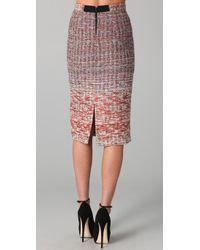 Alice + Olivia - Purple Niall Tweed Pencil Skirt - Lyst