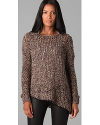 Helmut Lang - Natural Open Knit Pullover Sweater - Lyst
