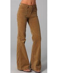 J Brand | Natural Ali High Rise Wide Leg Corduroy Pants | Lyst