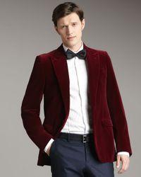 Lanvin | Red One-button Velvet Jacket for Men | Lyst