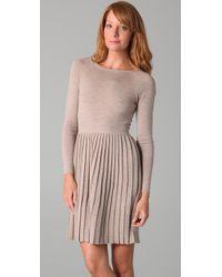 Tibi | Natural Merino Wool Pleated Sweater Dress | Lyst