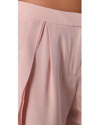 Tibi - Pink Ruffle Pants - Lyst