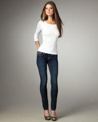 True Religion Blue Julie Lonestar Skinny Jeans