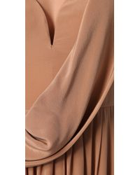 Zimmermann | Brown Draped Maxi Dress | Lyst