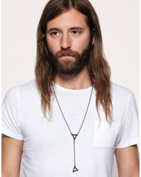 ASOS Collection - Black Asos Y-shaped Necklace for Men - Lyst