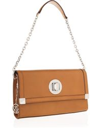 DKNY | Brown Leather Shoulder Bag | Lyst