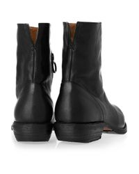 Fiorentini + Baker - Leather Buckle Ankle Booties - Black - Lyst
