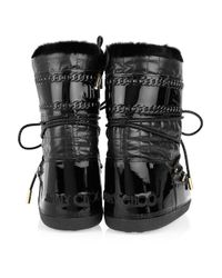 Jimmy Choo | Black Grove Shearling-trimmed Snow Boots | Lyst