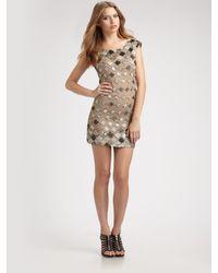 Alice + Olivia   Metallic Vista Beaded Tunic Dress   Lyst