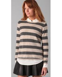 Chinti & Parker | Gray Wide Stripe Sweater | Lyst