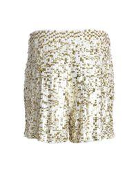 Reiss   Gold Sequin Short   Lyst