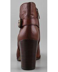 Sam Edelman - Brown Loni Tumbled Leather Bootie - Lyst