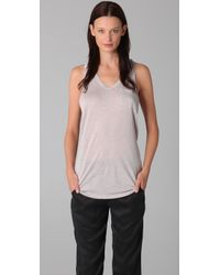 T By Alexander Wang - Pink Classic Pocket Tank - Lyst