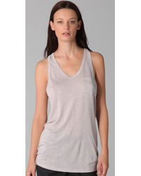 T By Alexander Wang | Pink Classic Pocket Tank | Lyst