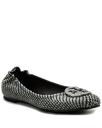 Tory Burch | Reva - Black Snake Printed Calf Hair Flat | Lyst