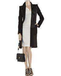 Antonio Berardi | Black Paneled Wool-blend Coat | Lyst